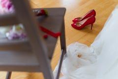 Att gifta sig som är brud-, skyler Royaltyfri Fotografi