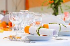 Att gifta sig tables sets Royaltyfria Bilder