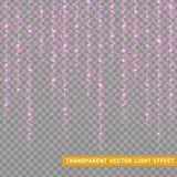 Att glöda blänker realistiska ljusa effekter Beståndsdel för julgarneringdesign vektor illustrationer