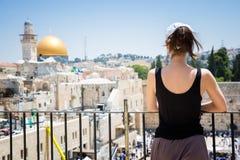 Att jämra sig vägg in i Jerusalem Arkivbild