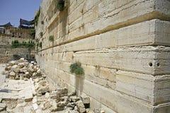 Att jämra sig vägg, jerusalem royaltyfria foton