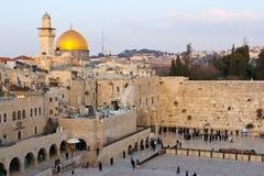 Att jämra sig vägg Jerusalem Arkivbilder