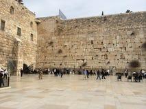 Att jämra sig vägg Jerusalem Arkivbild
