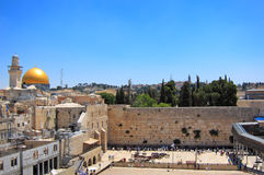 Att jämra sig vägg, Jerusalem Israel Fotografering för Bildbyråer