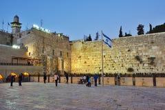 Att jämra sig vägg, västra vägg eller Kotel, gammal stad av Jerusalem, Isra royaltyfri bild