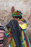 att jämra sig vägg för jerusalem bön Royaltyfri Foto