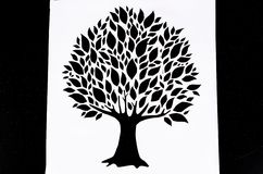 Att klippa av perforerar design för pappers- kort Royaltyfria Foton
