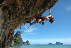 att klättra tycker om Royaltyfria Bilder