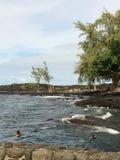 Att krascha vinkar i Stillahavs- Arkivbilder