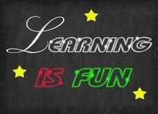 Att lära är det roliga ordet stock illustrationer