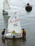 att lära seglar till Royaltyfri Bild