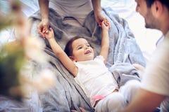 Att le barnet är det lyckliga barnet ballerina little Royaltyfria Bilder