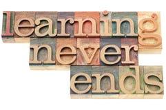 Att lära avslutar aldrig Arkivbild