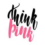 Att märka tänker rosa färger stock illustrationer