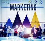 Att marknadsföra annonserar begrepp för analysaffärsreklamfilm royaltyfria bilder