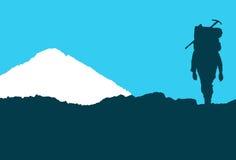 Att närma sig för klättrare huv mt Arkivbilder