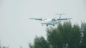 Att närma sig för turbopropmotorflygplan lager videofilmer