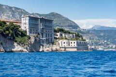 Att närma sig Monaco från havet Royaltyfri Foto