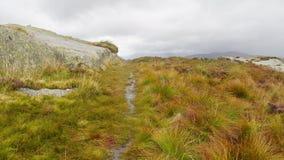 Att närma sig toppmötet av Eagle Crag, sjöområde arkivbilder