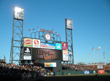 ATT Park HDTV Scoreboard display Stock Photos
