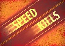 Att rusa hastighet dödar Gory Background Illustration Arkivbilder