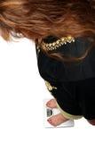 att se övervikt skalar kvinnor royaltyfri foto