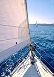 Att segla på seglar boaen arkivbild