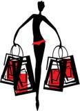 att shoppa går Royaltyfri Fotografi