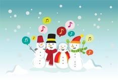 att sjunga kastar snöboll Fotografering för Bildbyråer