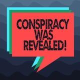 Att skriva anmärkningen som visar komplott, avslöjdes Affärsfotoet som ställer ut aktiviteten av i hemlighet planerat, var den sl stock illustrationer