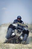 Att springa ATV är sand royaltyfria foton