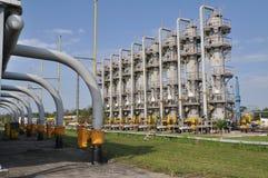 att torka gas, bransch, teknologi, gas, pump, knackar lätt på; ventel; ventil Arkivfoto