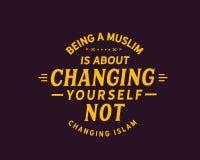 Att vara en muslim är om att ändra sig ändrande inte islam stock illustrationer