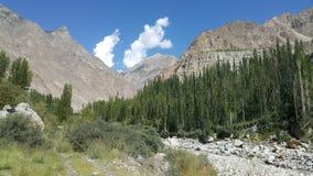 Atta abad lake. Location& x28;hunza& x29; picnic point royalty free stock photo