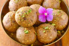 Atta laddoo or punjabi pinni. Flour, clarified butter and sugar truffles made during Indian festivals Stock Images