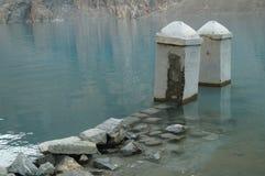 Attaabad il lago blu fotografia stock