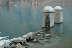 Attaabad o lago azul Fotografia de Stock