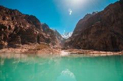 Attabad湖 库存图片