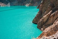 Attabad湖 库存照片