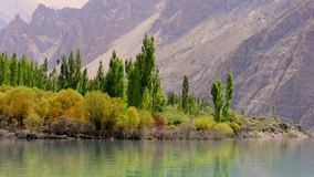 Attabad Lake, Hunza, Gilgit. Pakistan stock video footage