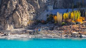 Attabad See Stockfoto
