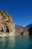 Attabad See im nördlichen Bereich von Pakistan lizenzfreie stockfotos