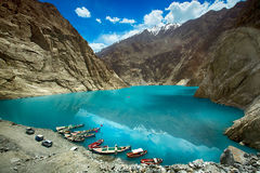Attabad See Pakistan Stockbilder