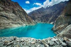 Attabad sjö gilgit Pakistan Royaltyfri Fotografi