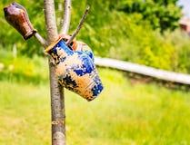 Attaccatura dei vasi delle terraglie Fotografia Stock Libera da Diritti