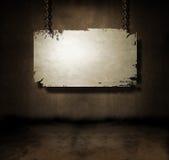 Attaccatura della bandiera del metallo Fotografie Stock Libere da Diritti
