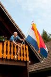 Attaccatura della bandierina olandese immagini stock