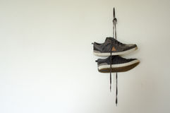 Attaccatura delle scarpe Immagine Stock