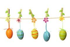 Attaccatura delle uova di Pasqua Fotografie Stock