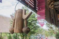 Attaccatura di legno della campana Fotografia Stock Libera da Diritti